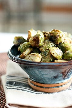 [Inspired Vegetarian] Roasted Brussels Sprouts with Avocado Cream