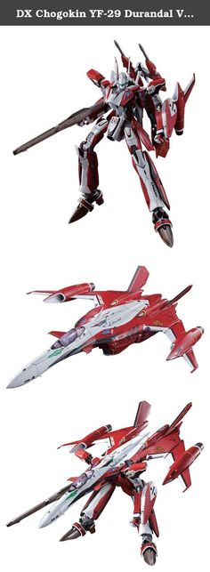 "DX Chogokin YF-29 Durandal Valkyrie (Saotome Alto Custom) [JAPAN]. Active in ""The Movie Macross F ~ Sayonara no Tsubasa ~"", complete deformation model latest VF of the hero and Alto Saotome boarding of ""YF-29 Durandal Valkyrie"" is three-dimensional! Can wage a fierce battle in the final battle in the play , aircraft of fan attention. Perform a full new design based on the know-how of DX superalloy of the past, can be completely deformed to form 3 Fighter, Gerwalk, of Battroid. ! ""Shaped..."