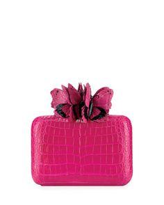 Butterfly+Crocodile+Box+Clutch+Bag+by+Nancy+Gonzalez+at+Neiman+Marcus.