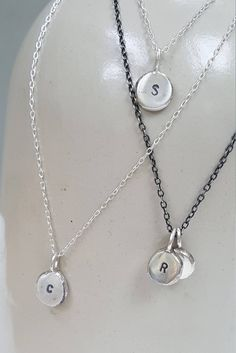Silver Initial Pendant  - Dainty Small Personalised Necklace  -  Initial Jewellery  -  Customised Silver Pendant  -  Charm Necklace by LindaTuckerJewellery on Etsy https://www.etsy.com/uk/listing/517097321/silver-initial-pendant-dainty-small