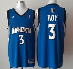 Adidas NBA Minnesota Timberwolves 3 Brandon Roy New Revolution 30 Swingman  Road Blue Jersey 36ee07c96