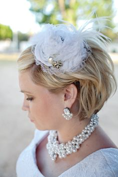 Feathered Bird Cage Veil