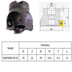 29.42$  Watch more here - Hot Sale 10Pcs 50x50mm 4Flute BAP400R -50MM-22 Face End Mill APMT 1604 PDER Carbide Inserts Set   #bestbuy