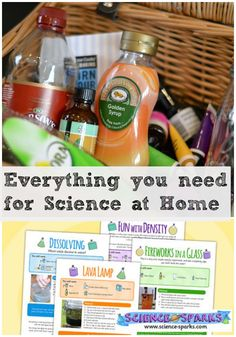 Everything you need for science activities at home, includes FREE printables.