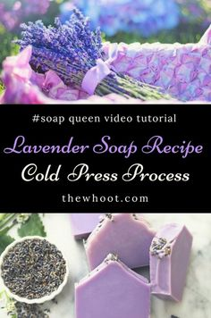 Learn how to make your own Lavender Soap Cold Press Recipe. We have a Soap Queen Video Tutorial that will show you how. View now.