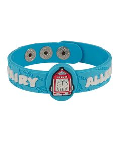 Dairy Health Alert Bracelet...I need one of these for my kid.