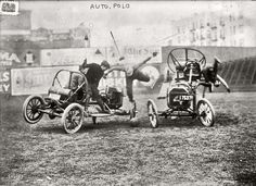 """December 1912. """"Auto polo,"""" somewhere in New York. It looks a little risky to me. 5x7 glass negative, George Grantham Bain Collection."""
