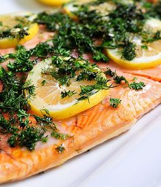 Lemon Dill Salmon - So quick to get on the table for busy night suppers! Bright and full of flavor!  ©addapinch.com