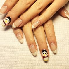 i like the sparkly french manicures with the crystal  #winter2014 #winternailart newnailsdesigns   Instagram