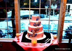 Our Cake .... inspired by our custom invitations.  Photo taken by Right Angle Studio's
