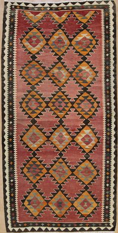 Handgewebter Teppich 303 x 150 cm KILIM KELIM Moderna alfombra oriental