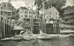 Boothbay Harbor and Camden, Maine Postcard