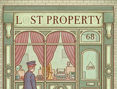 Lost Property comic book by Andy J Poyiadgi. Love to colour technique. ie: simple, with linework and textures too.