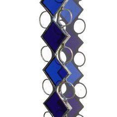 Blue Stained Glass Suncatcher, cobalt and medium blue.