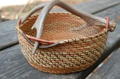 Antler basket by W. Wright