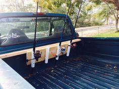DIY fishing rod rack/holder thing.