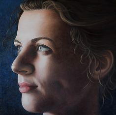 Anja Jager 'Maria Magdalena', oil on wood, 70x70 cm