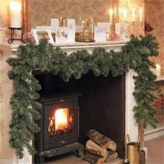 2014 New Luxury 2.7M X 25CM Thick Mantel Fireplace Christmas Garland Pine Tree Indoor Christmas Decoration-in Christmas Decoration Supplies from Home & Garden on Aliexpress.com | Alibaba Group