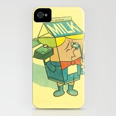 Spoiled Milk iPhone Case by Joshua Kemble - $35.00