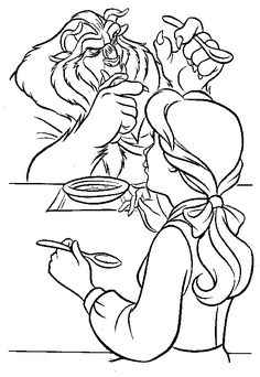 333 Best Beauty And The Beast Coloring Pages Images On Pinterest