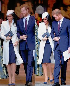 """Meghan Markle and Prince Harry depart from the 2018 Commonwealth Day service at Westminster Abbey onMarch 12th, 2018. """