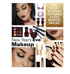"""NYE Makeup LO-oK"" by kapua-blume ❤ liked on Polyvore featuring beauty, Stila, Givenchy, Kevyn Aucoin, MAC Cosmetics, Deborah Lippmann, Agent Provocateur, Eve Lom, Milani and burgundy"