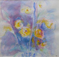 Lysianthusblumen/Aquarell ©Tobias Windlinger
