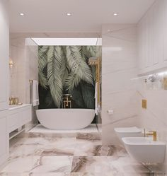 Luxury bathroom interior design , The bathroom is made in a classic style with modern elements. Upon entering the room you can see the incredibly beautiful freestanding Aquanet Delight. Modern Interior Design, Interior Styling, Interior Concept, Bathroom Design Luxury, House Rooms, Bathroom Inspiration, Cheap Home Decor, Home Remodeling, House Design