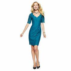 Lace Shift Dress on C. Wonder