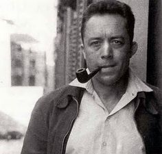 Albert Camus, Author - Smoking A Tobacco Pipe