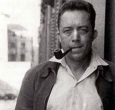 Albert Camus, Author - Smoking A Tobacco Pipe
