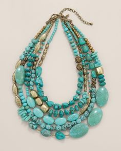 Skye Multi-Strand Necklace from Chico's on shop.CatalogSpree.com, your personal digital mall.