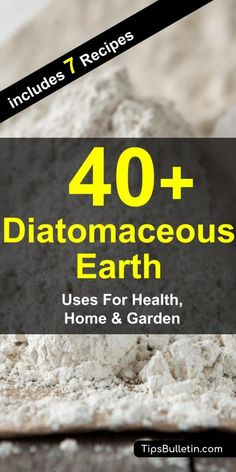 40 diatomaceous earth uses for health, home and garden. From using food grade DA for detox, constipation, weightloss or against fleas to home and garden benefits e. to control bed bugs, ants or other pests. Benefits Of Gardening, Organic Gardening, Gardening Tips, Deep Cleaning Tips, Cleaning Hacks, Cleaning Recipes, Hacks Diy, Home Remedies, Natural Remedies