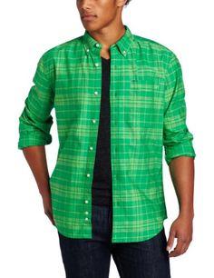 Hurley Men's Ace Oxford Long Sleeve Woven Shirt, « Clothing Impulse