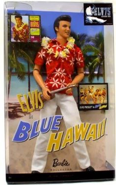 Mattel Barbie Elvis Presley Collection Classic Edition Elvis In Blue Hawaii.