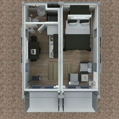 Shipping Container Cabin Concept -Part 3  Tiny House Design