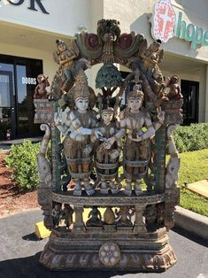 Indian Antique Temple Carving Sculpture Hand Carved Shiva | Etsy#antique #carved #carving #etsy #hand #indian #sculpture #shiva #temple