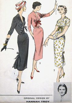 Vintage 1950's Hannah Troy Collectible Dress Pattern by PatternGal, $110.00 Advance 8203