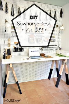 DIY Craft Room Desk |