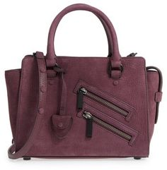 Rebecca Minkoff Small Jamie Leather Satchel - Purple