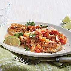Salsa Flounder - Cooking Light