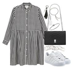 """""""Untitled #3830"""" by theeuropeancloset ❤ liked on Polyvore featuring Monki, adidas Originals, Yves Saint Laurent, H&M, Michael Kors and Monica Vinader"""