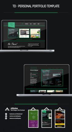TD - Personal Portfolio Template by aldhy dany, via Behance