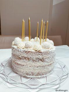 Himbeer-Kokos-Torte  #raffaello #nakedcake #coconut #cake Fondant, Vanilla Cake, Cakes, Desserts, Food, Raffaello, Raspberries, Kuchen, Tailgate Desserts