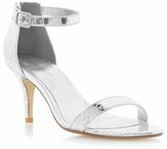 41721c80b62e Cartier Roland Silver strappy ankle strap mid heel sandal on shopstyle.co.uk  Silver