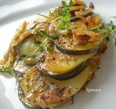 Zapiekanka z cukinii i ziemniaków Polish Recipes, Great Recipes, Side Dishes, Pork, Snacks, Meat, Chicken, Dinner, Poland