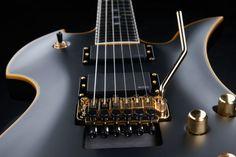 BC Rich Mockingbird Pro X E-Guitar, Mahogany Body, Maple top, Mahagony neck thru, Ebony Fretboard, 24 Frets, EMG 81 thomann and EMG 60 active Humbucker Pickups, Floyd Rose Series 1000 Tremolo, Gold Hardware, Finish Shadow