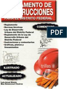 REGLAMENTO DE CONSTRUCCIONES PARA EL D.F. (ILUSTRADO) Autocad, Illustration, Social, Drawing, The World, Home, Illustrations, Draw, Drawings
