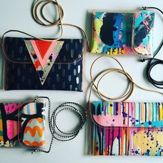Bags with straps..... If you are like me and need to be hands free...... #oneofakind #handpainted #tiffmanuell