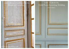 Add a little gold paint to accentuate molding details! Inspired by the doors of Versailles